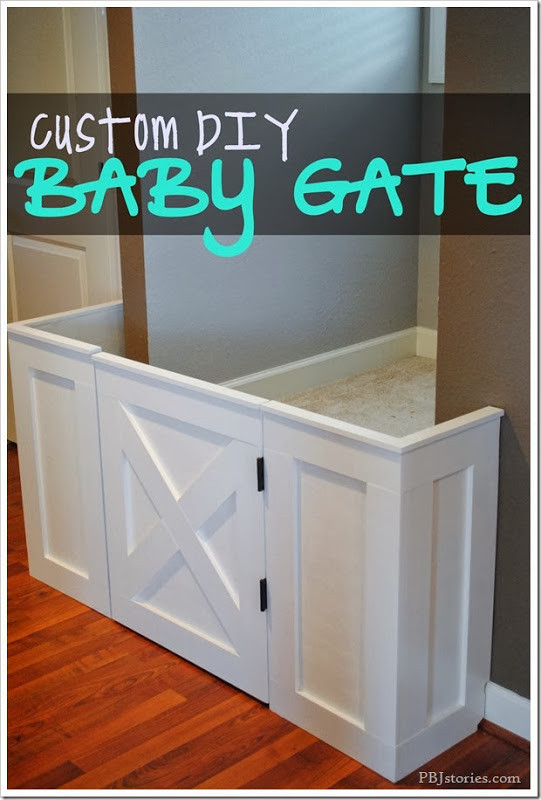 Best ideas about Baby Gates DIY . Save or Pin PBJstories How to make a Custom Built Baby Gate Now.