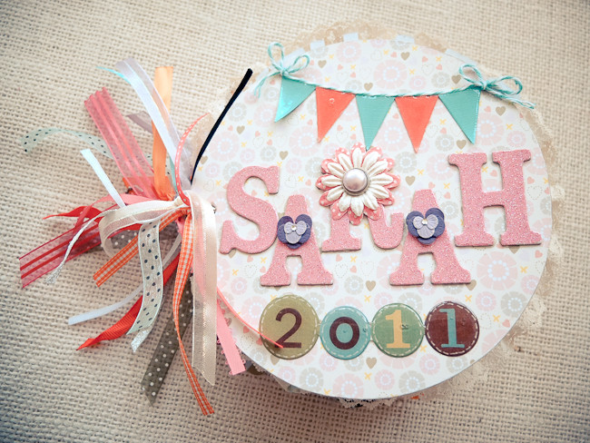 Best ideas about Baby Girl Craft . Save or Pin Scrapbook Mini Album for Baby Girl – Mayholic in Crafts Now.