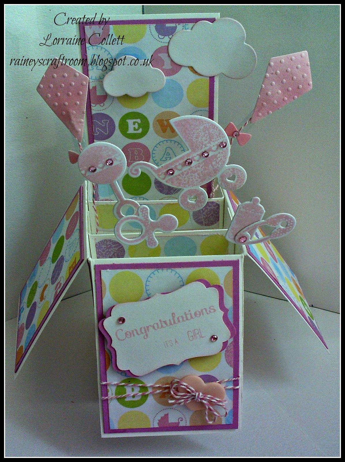 Best ideas about Baby Girl Craft . Save or Pin Rainey s Craft Room Card In A Box Baby Girl Now.