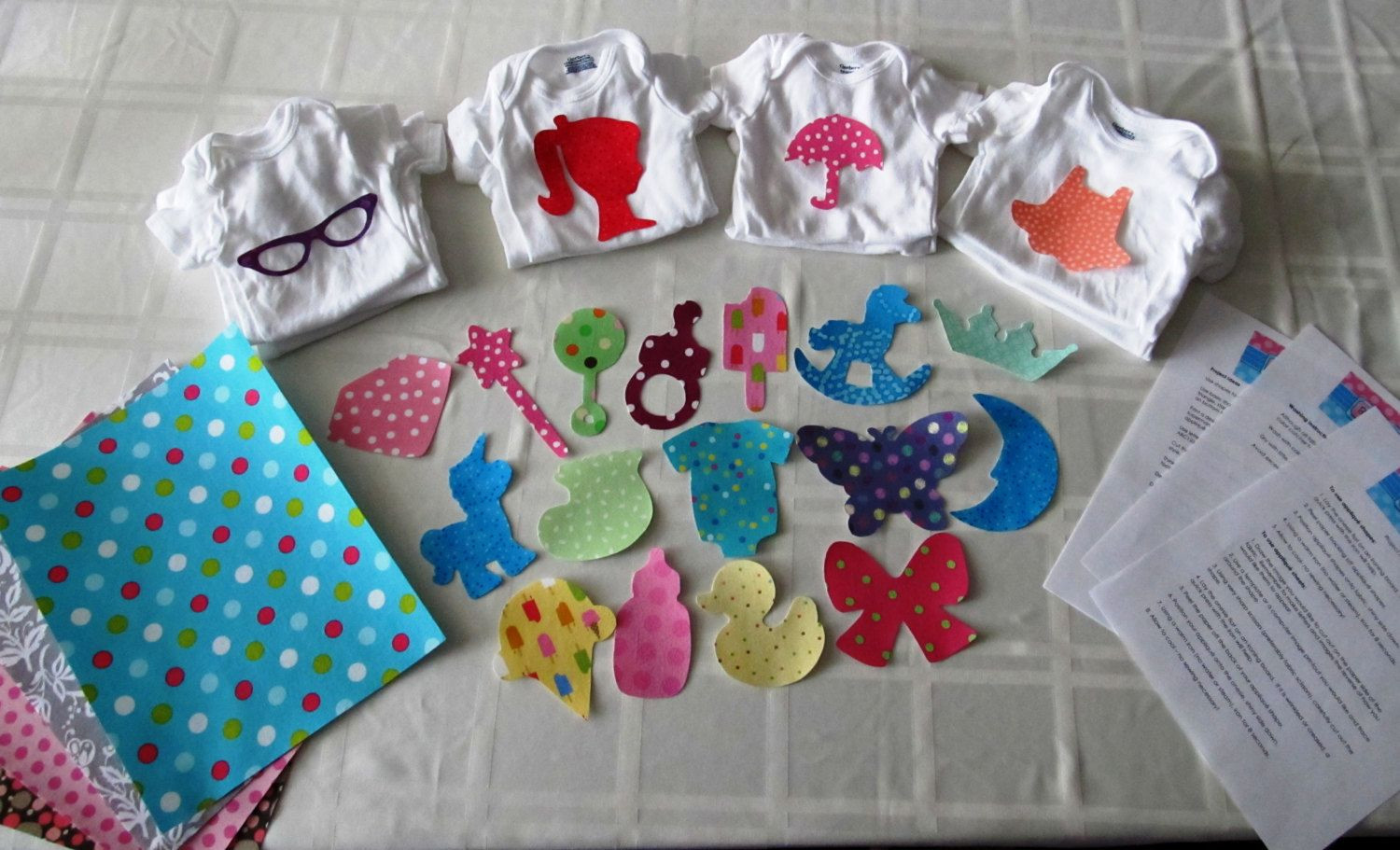 Best ideas about Baby Girl Craft . Save or Pin DIY Baby Girl esie Kit Baby Shower craft including Now.