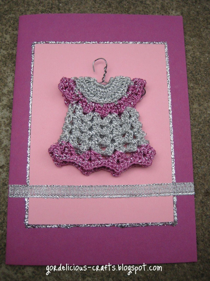 Best ideas about Baby Girl Craft . Save or Pin gordelicious creative crafts Baby girl card Now.
