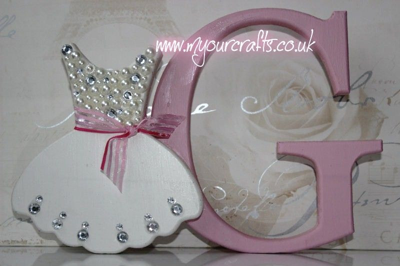Best ideas about Baby Girl Craft . Save or Pin Wooden crafts Bespoke mdf freestanding letter with Bag Now.