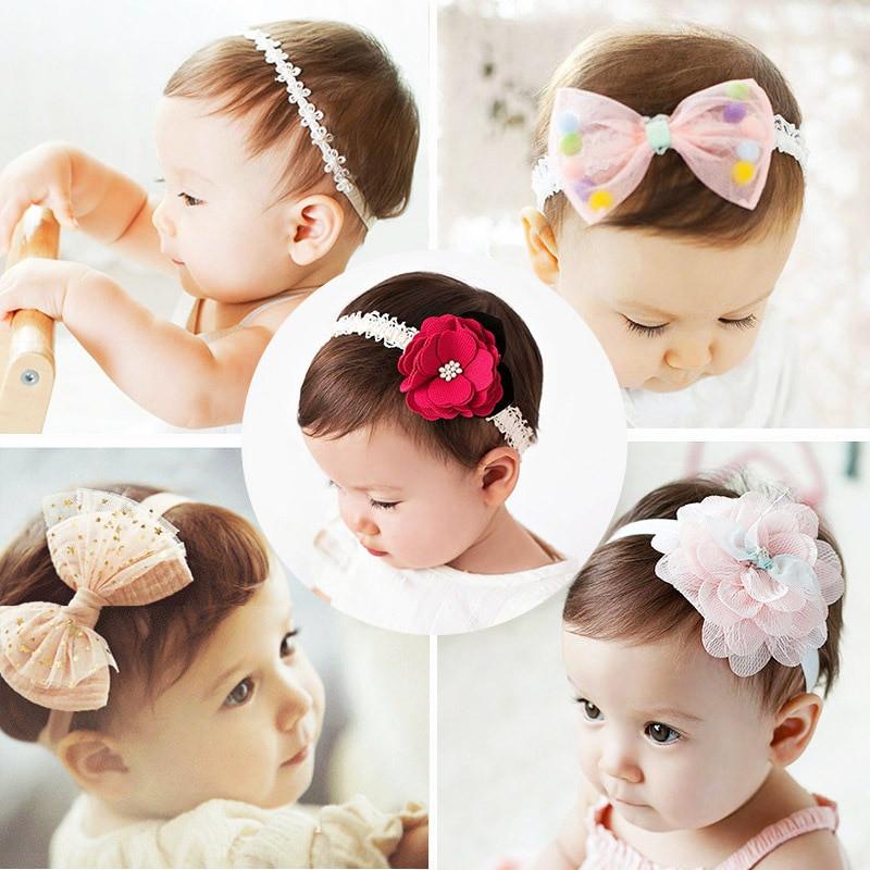 Best ideas about Baby Girl Headband DIY . Save or Pin 2018 korean Baby girls headband newborn fabric flowers for Now.