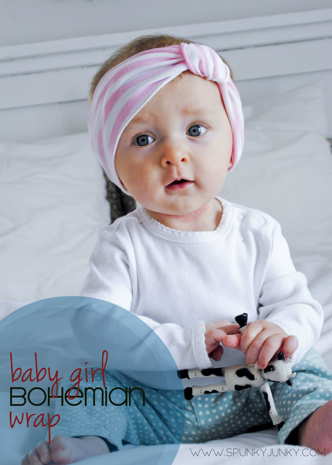 Best ideas about Baby Girl Headband DIY . Save or Pin Spunky Junky DIY Baby Girl Bohemian Wrap Now.