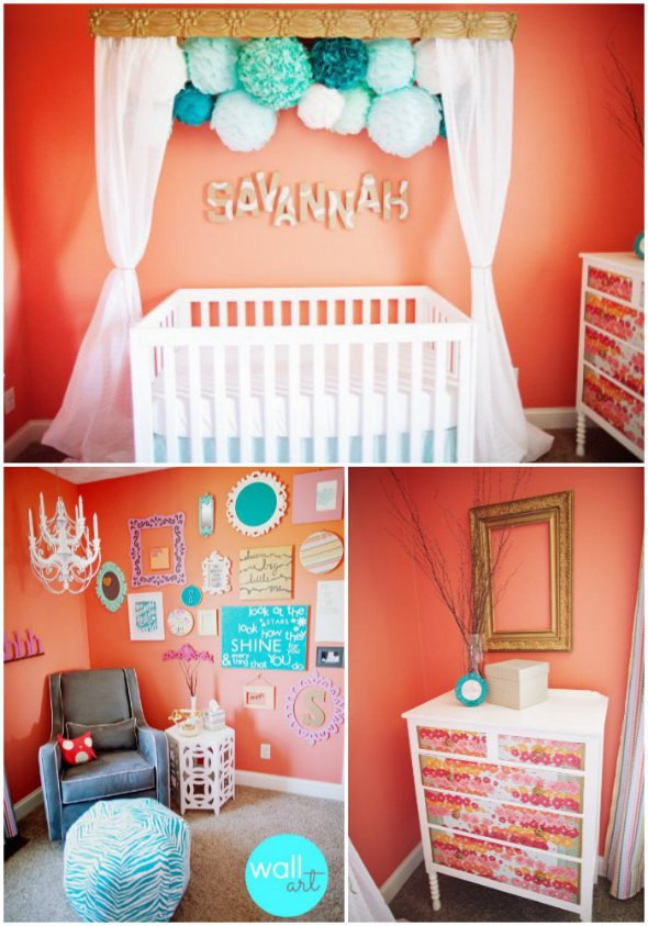 Best ideas about Baby Girls Room Decor Ideas . Save or Pin Baby Nursery Ideas for Girls Now.