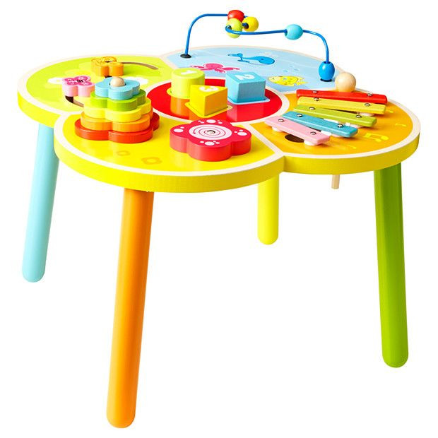 Best ideas about Baby Learning Table . Save or Pin Young es Wooden Activity Table Baby Vance Now.