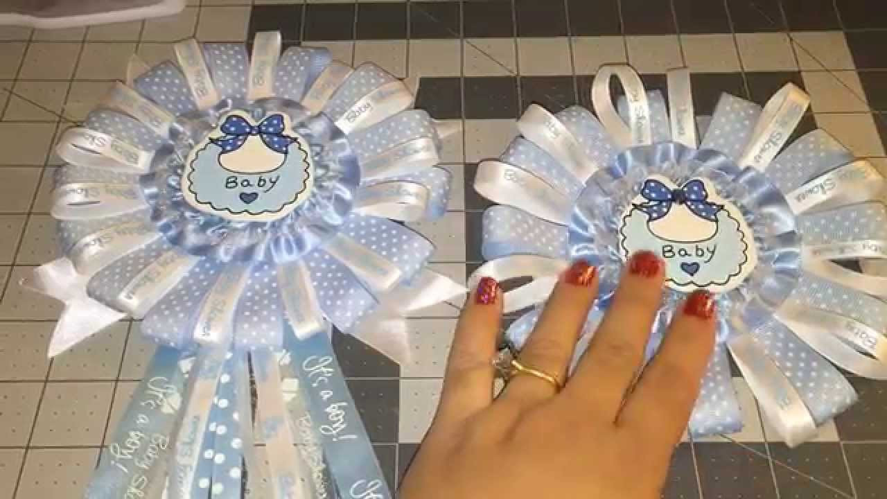 Best ideas about Baby Shower Corsages DIY . Save or Pin Blue Baby Shower Corsage DIY Do it Yourself Now.