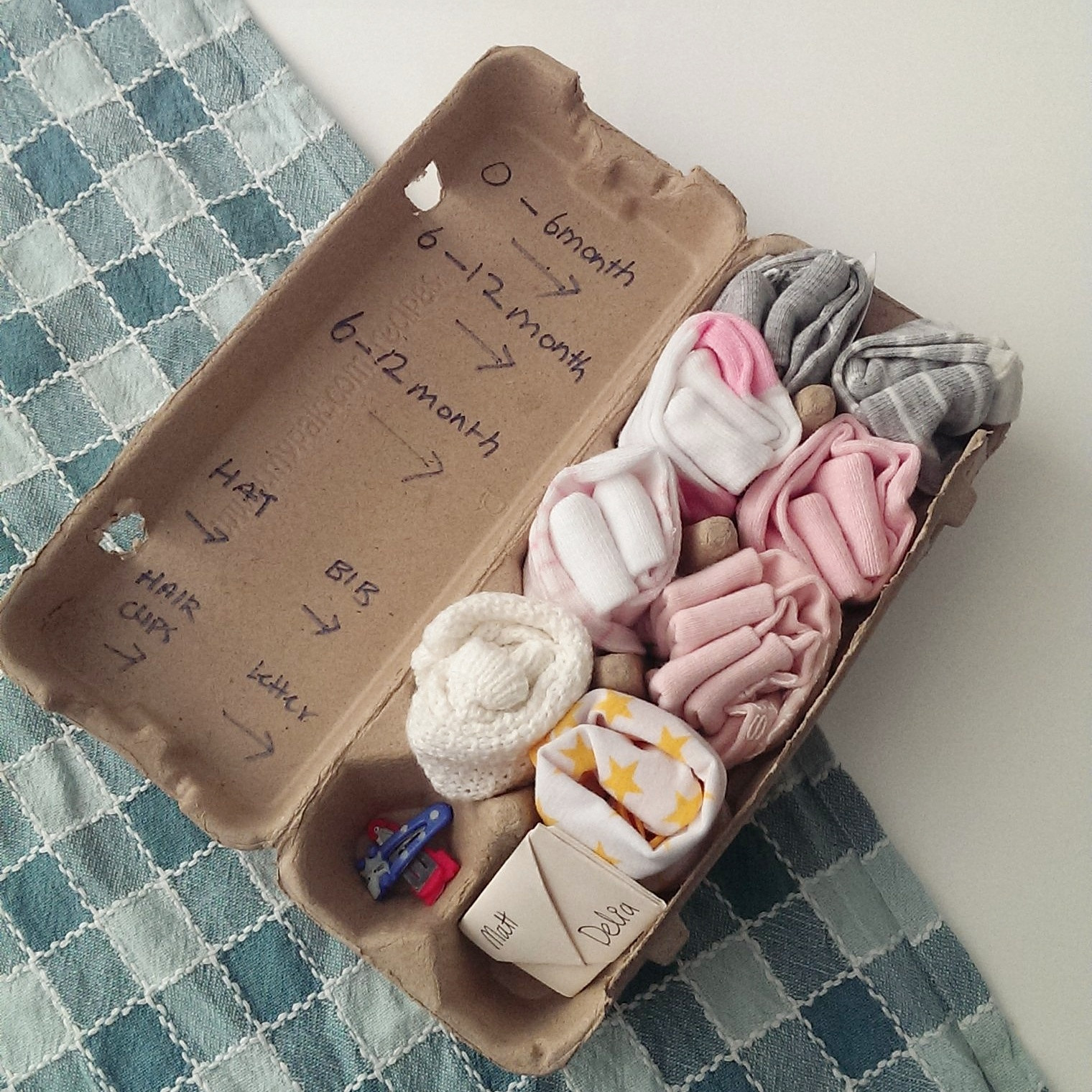 Best ideas about Baby Shower DIY Gifts . Save or Pin D I Y Up Cycling Egg Carton Gift baby shower – Choyful Now.