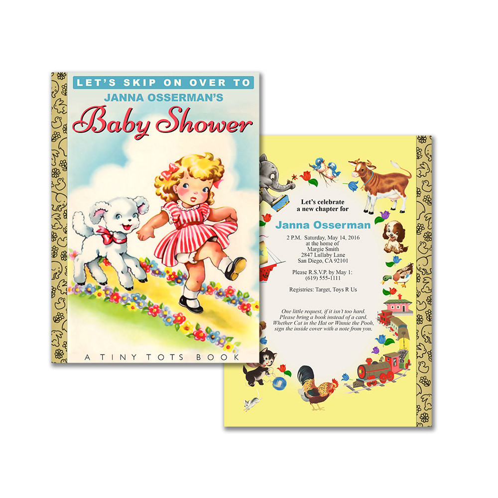 Best ideas about Baby Shower Invitations DIY . Save or Pin Storybook baby shower invitation DIY printable invitation Now.