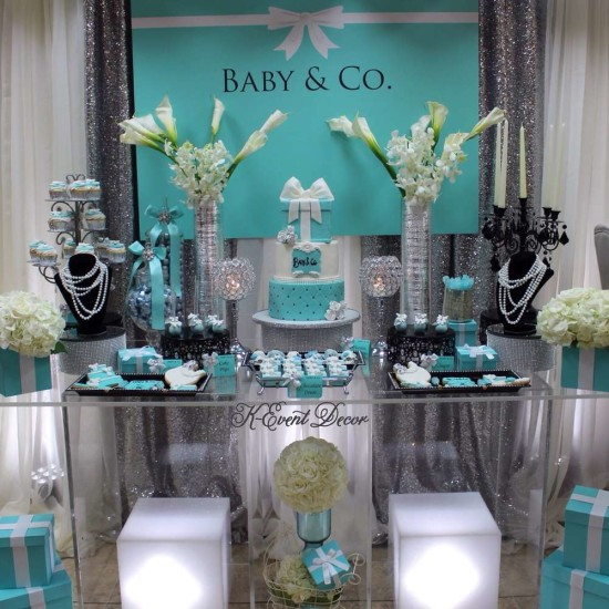 Best ideas about Baby Shower Table Decoration . Save or Pin Tiffany Themed Baby Shower Baby Shower Ideas Themes Now.