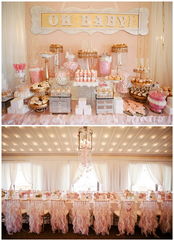 Best ideas about Baby Shower Table Decoration . Save or Pin Whimsical Pink and Gold Baby Shower Pretty My Party Now.