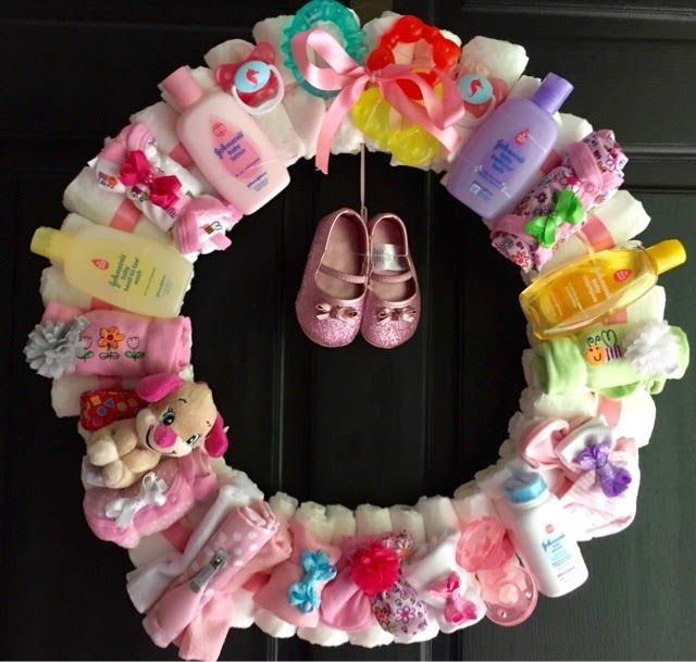 Best ideas about Baby Shower Wreath DIY . Save or Pin DIY Baby Shower Wreath s and for Now.