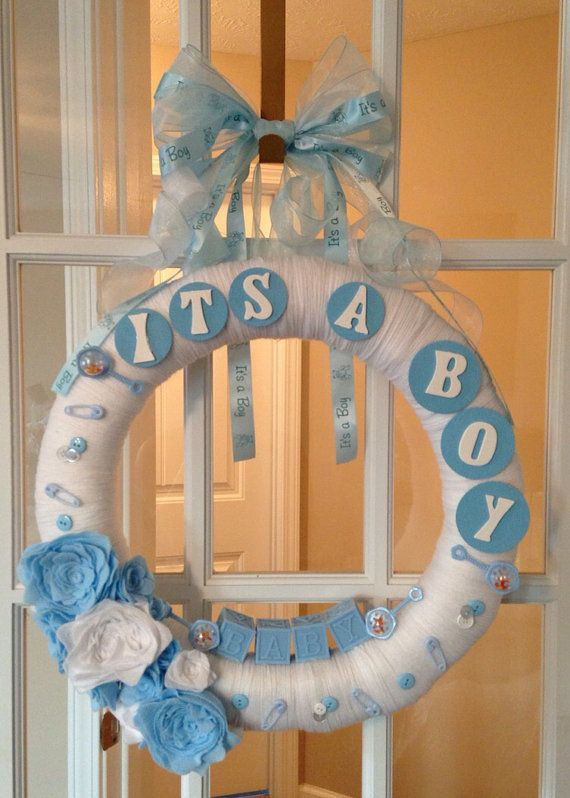 Best ideas about Baby Shower Wreath DIY . Save or Pin Baby Shower Wreath by aDOORableBoutique on Etsy $50 00 Now.