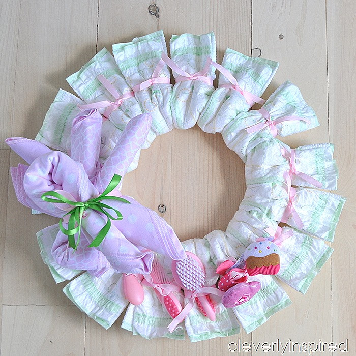 Best ideas about Baby Shower Wreath DIY . Save or Pin DIY Diaper Wreath DIY baby shower decoration Now.