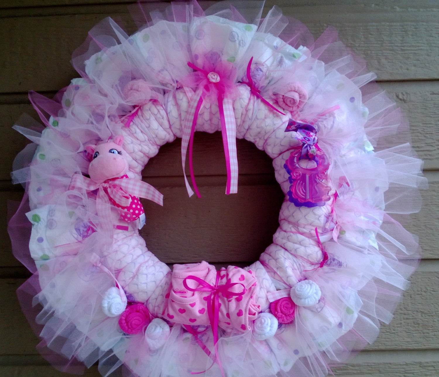 Best ideas about Baby Shower Wreath DIY . Save or Pin Diaper Wreath Free Shipping Now.