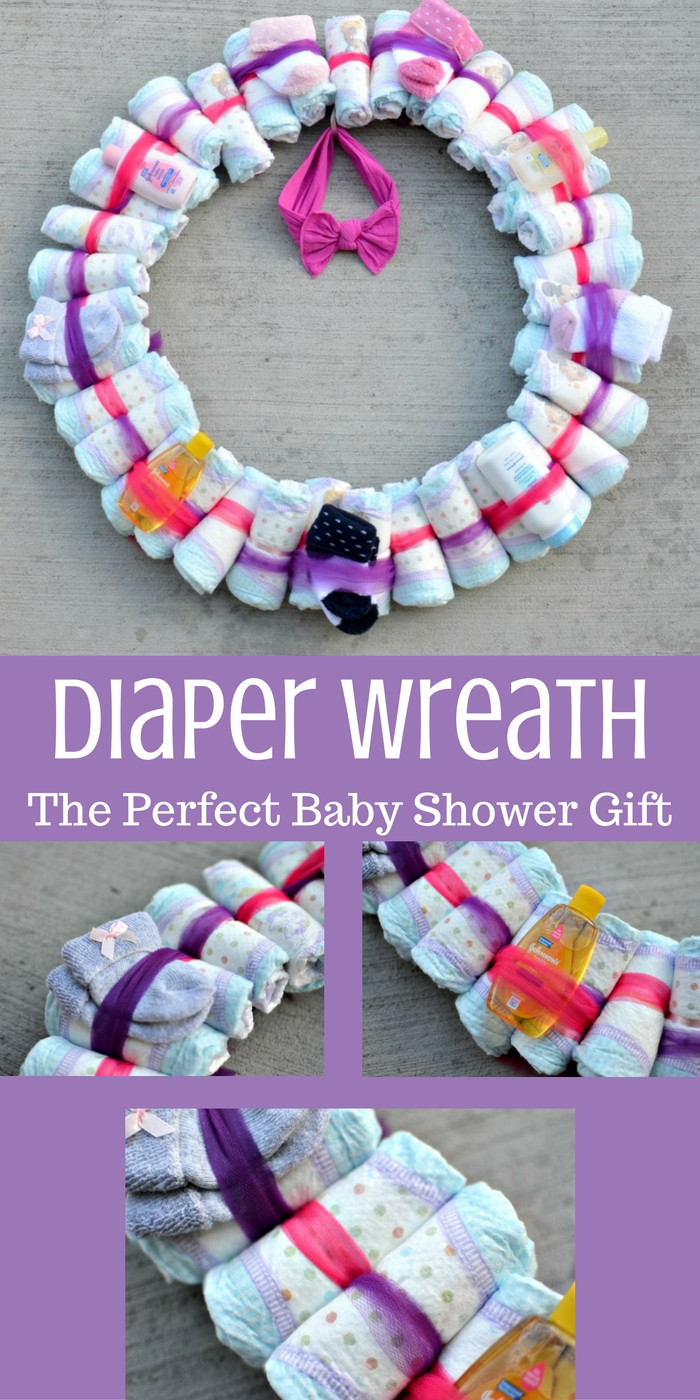 Best ideas about Baby Shower Wreath DIY . Save or Pin DIY Diaper Wreath Baby Shower Gift Tastefully Frugal Now.