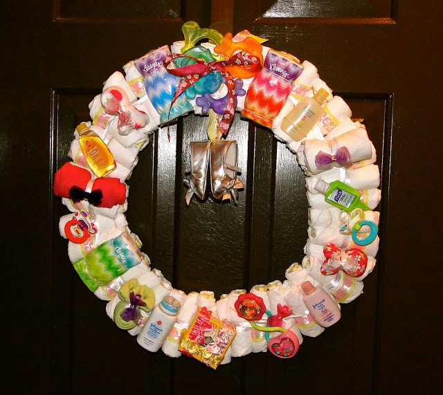 Best ideas about Baby Shower Wreath DIY . Save or Pin How To Make A Diaper Wreath With Instructions 30 Ways Now.