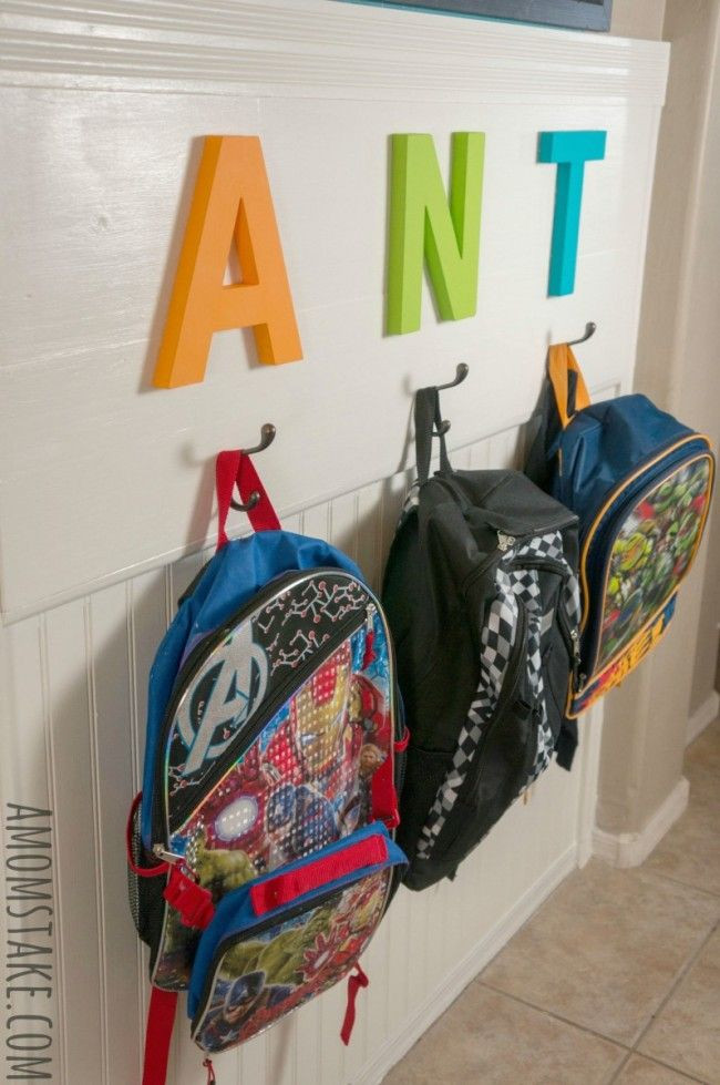 Best ideas about Backpack Organizer DIY . Save or Pin Best 25 Backpack station ideas on Pinterest Now.