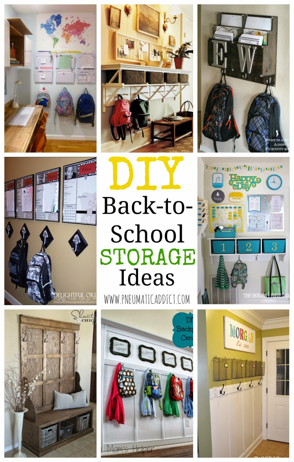 Best ideas about Backpack Organizer DIY . Save or Pin DIY Back to School Storage Ideas Now.