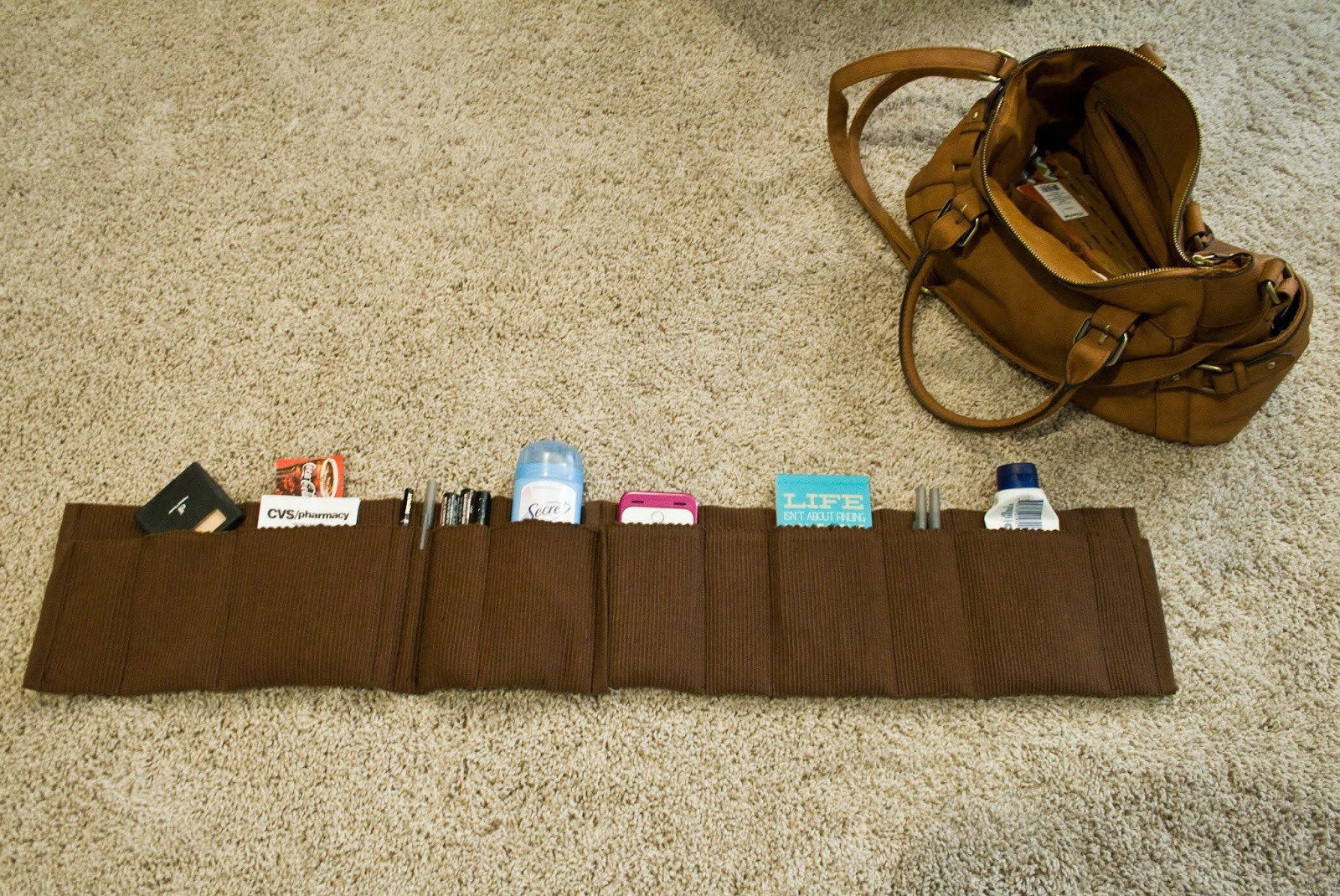 Best ideas about Backpack Organizer DIY . Save or Pin five sixteenths blog Make it Monday Easy Purse Now.