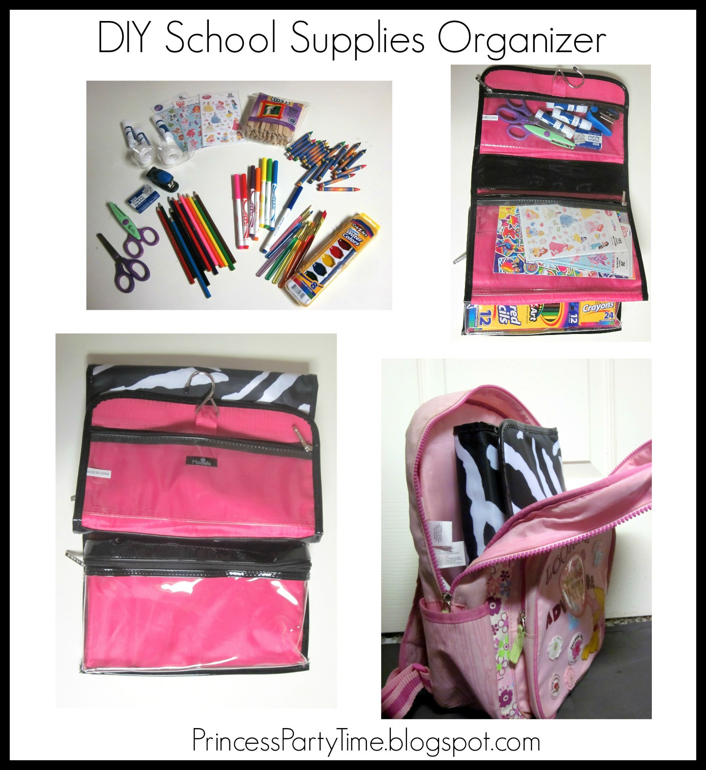 Best ideas about Backpack Organizer DIY . Save or Pin It s a Princess Thing DIY Back To School Supplies Now.