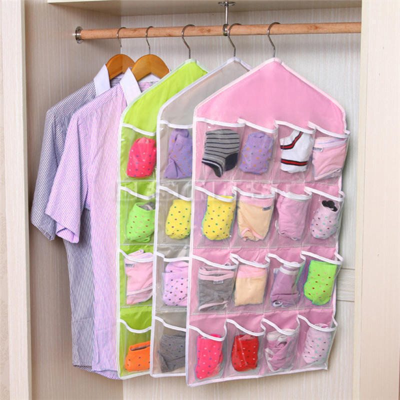Best ideas about Backpack Organizer DIY . Save or Pin 16 Pockets Door Wardrobe Hanging Bag DIY Rack Hanger Socks Now.