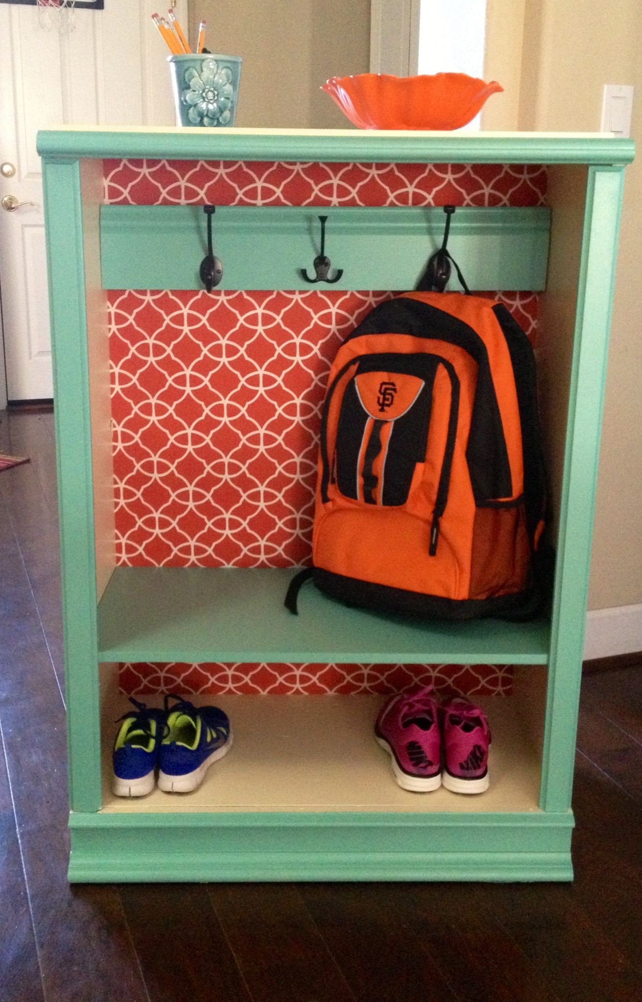 Best ideas about Backpack Organizer DIY . Save or Pin DIY Back to school backpack coat storage Made from an Now.