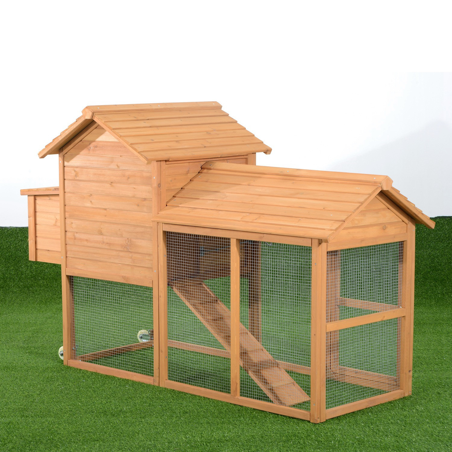 Best ideas about Backyard Chicken Coop . Save or Pin Aosom Deluxe Portable Backyard Chicken Coop with Nesting Now.