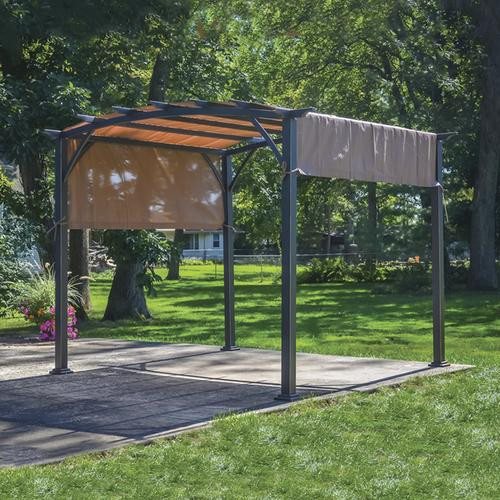 Best ideas about Backyard Creations Gazebo . Save or Pin Backyard Creations 9 5 x 9 5 Deluxe Arched Pergola with Now.