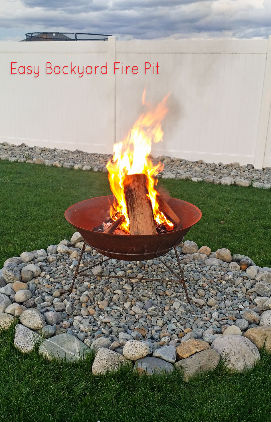 Best ideas about Backyard Fire Pit . Save or Pin Easy Backyard Fire Pit In Less than 30 Minutes Now.