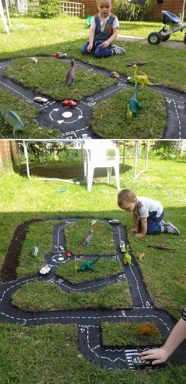 Best ideas about Backyard Fun For Kids . Save or Pin Backyard DIY Race Car Tracks Your Kids Will Love Instantly Now.