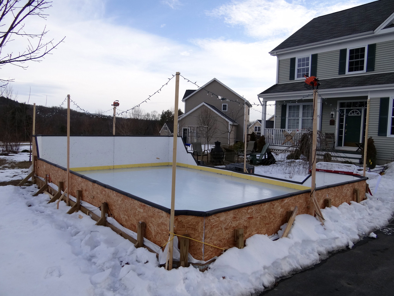 Best ideas about Backyard Ice Rink . Save or Pin Backyard fence ideas cheap Now.