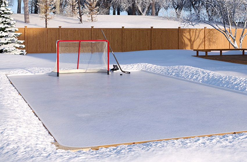 Best ideas about Backyard Ice Rink . Save or Pin White Reflective Backyard Ice Rink Plastic Polytarp Now.