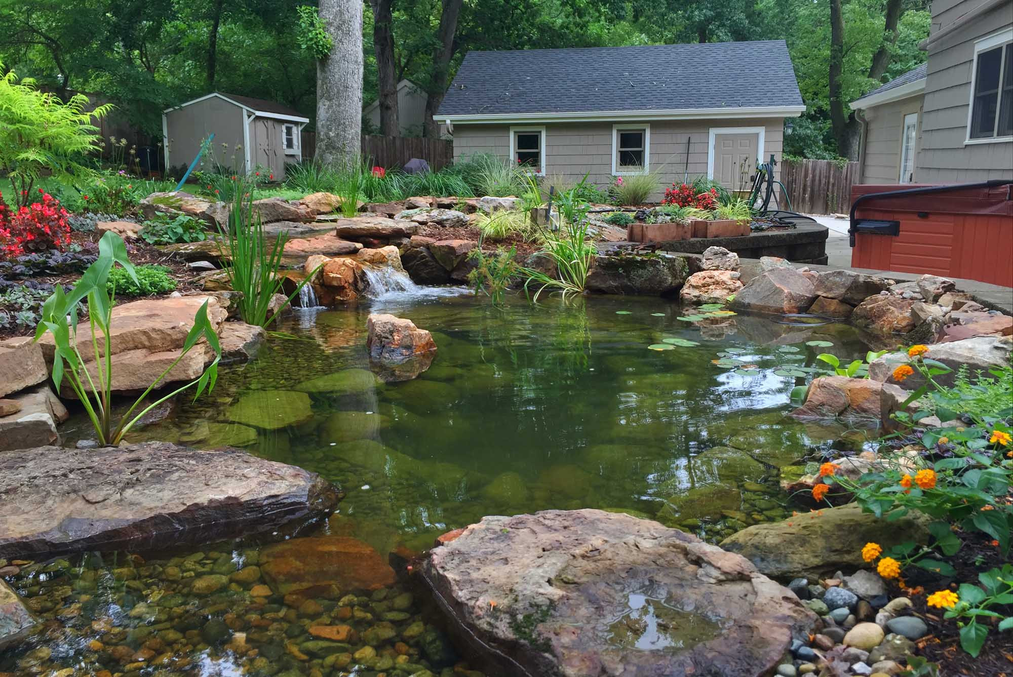 Best ideas about Backyard Koi Pond . Save or Pin Pond Construction Renovation And Maintenance In Des Now.