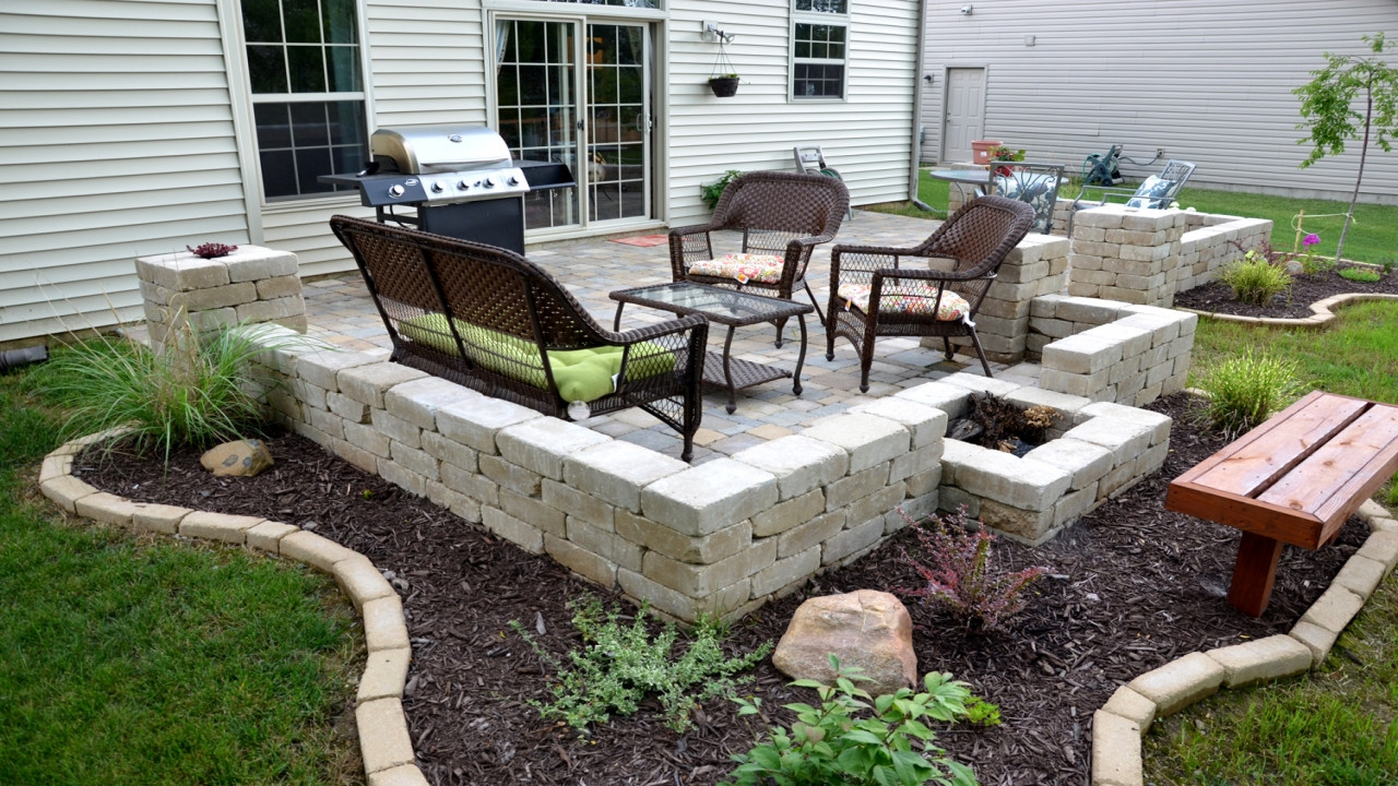 Best ideas about Backyard Patio Ideas On A Budget . Save or Pin Paver stone patio ideas patio ideas on a bud images Now.