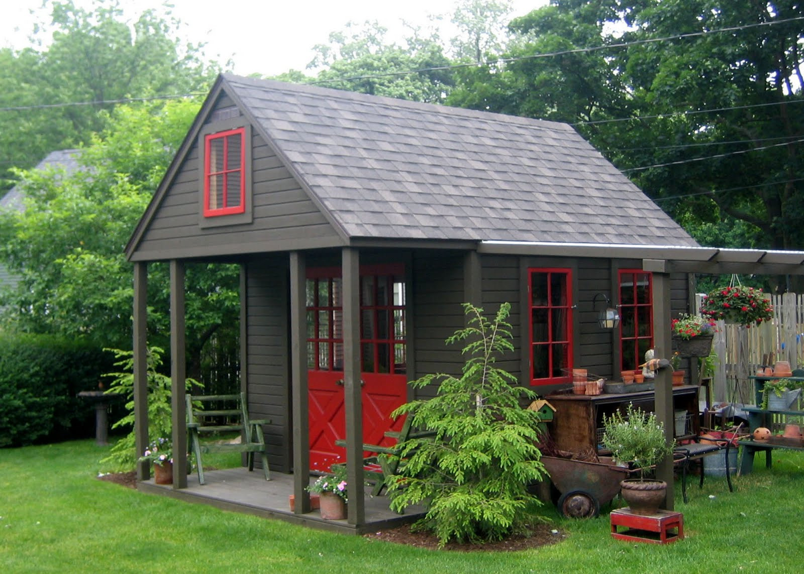 Best ideas about Backyard Shed Ideas . Save or Pin Nappanee Home and Garden Club GARDEN SHEDS PORCHES Now.
