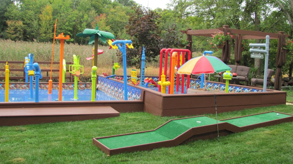 Best ideas about Backyard Water Park . Save or Pin Backyard waterpark large and beautiful photos to Now.