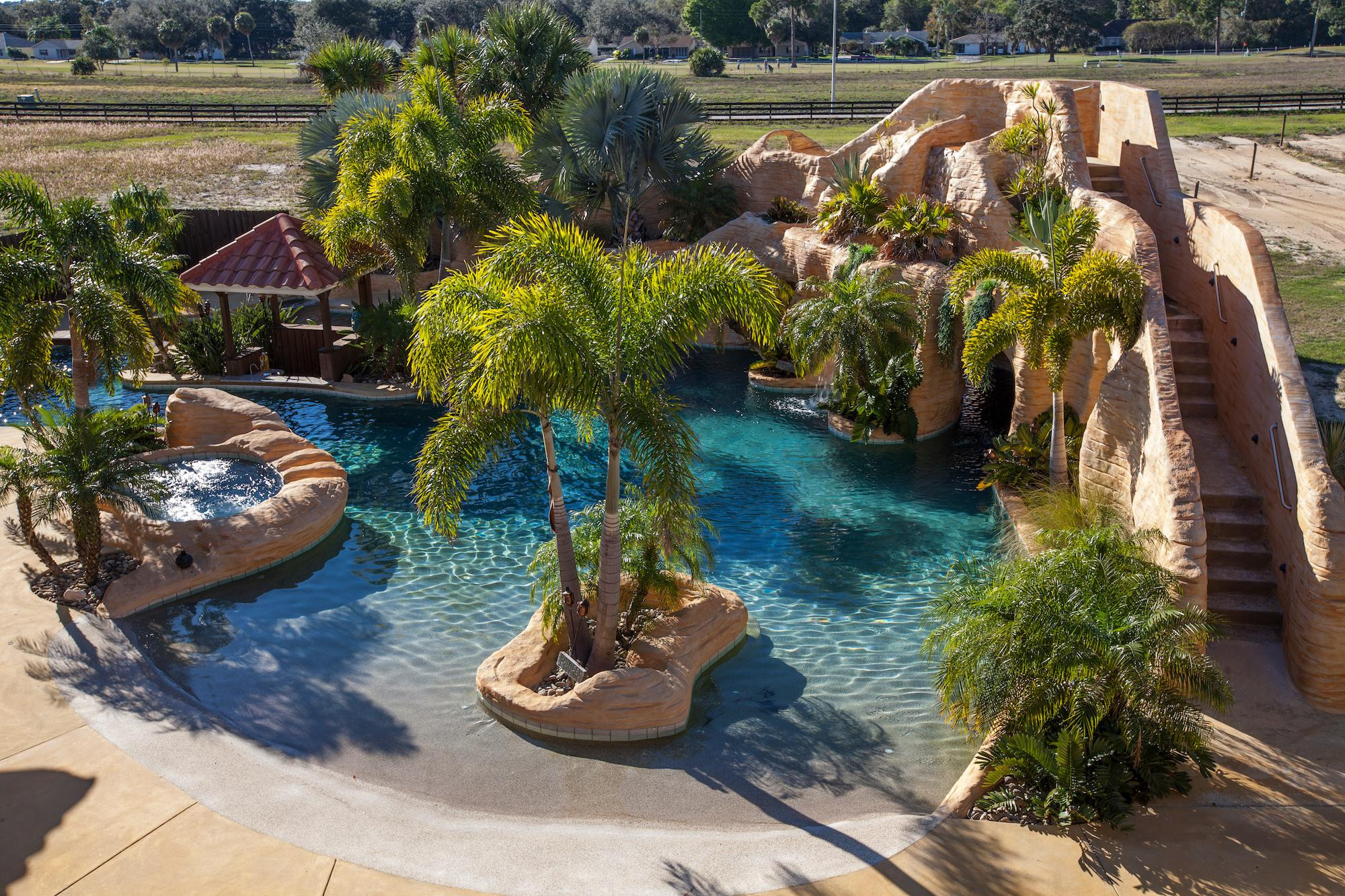 Best ideas about Backyard Water Park . Save or Pin Florida Home with Backyard Water Park [2000x1333] House Now.