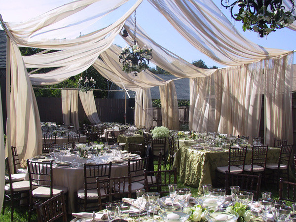Best ideas about Backyard Wedding Rentals . Save or Pin Backyard Wedding with Swagging Now.