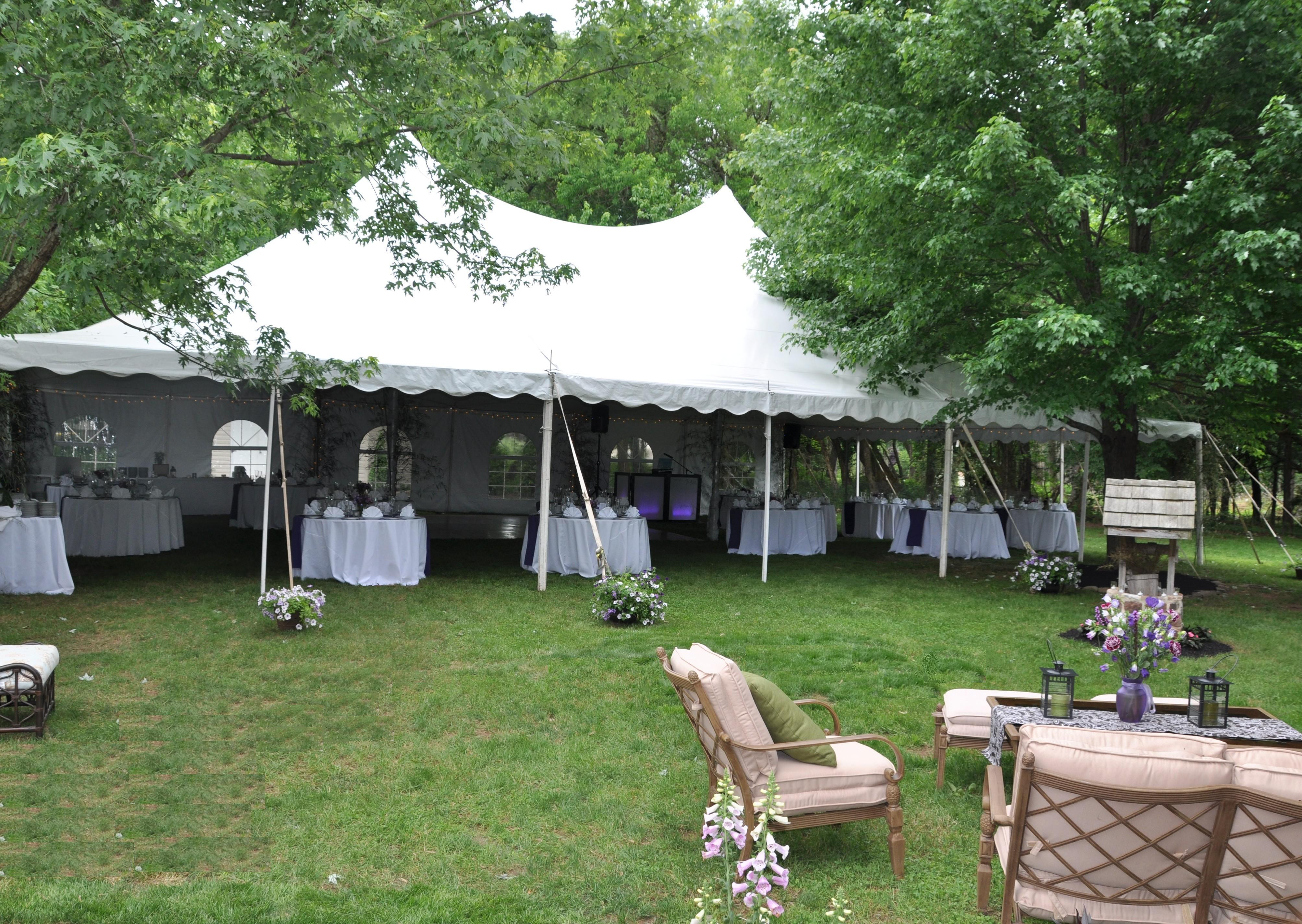 Best ideas about Backyard Wedding Rentals . Save or Pin Hamilton NJ Wedding Services Adams Party Rental Tent Now.