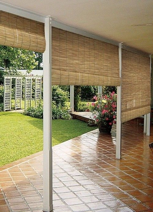 Best ideas about Bamboo Patio Shades . Save or Pin 25 best ideas about Outdoor blinds on Pinterest Now.