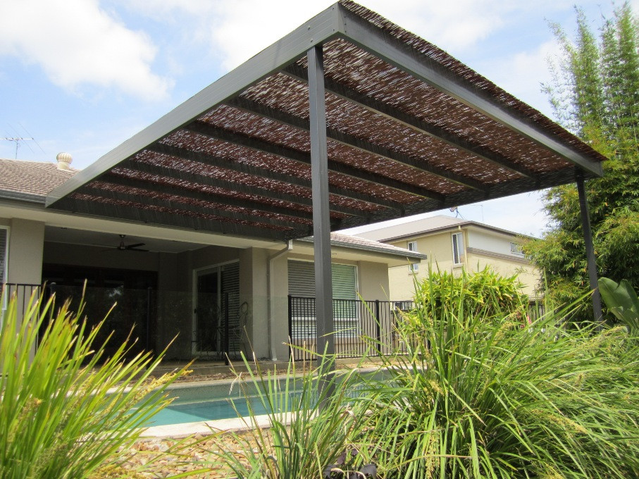 Best ideas about Bamboo Patio Shades . Save or Pin A Queensland patio over pool with a bamboo roof for Now.