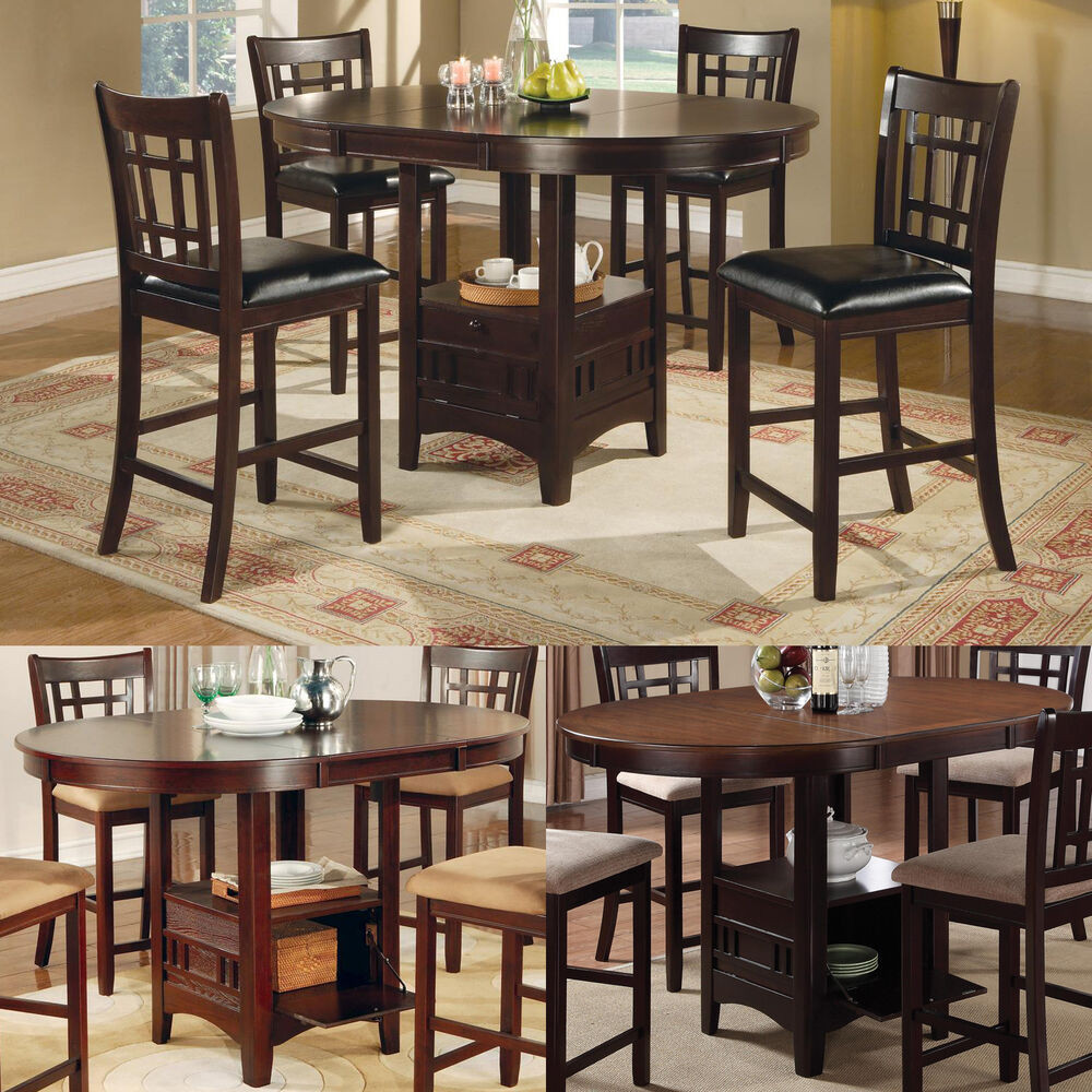 Best ideas about Bar Height Dining Table . Save or Pin Cappuccino Dark Cherry Storage Counter Height Leaf Pub Now.
