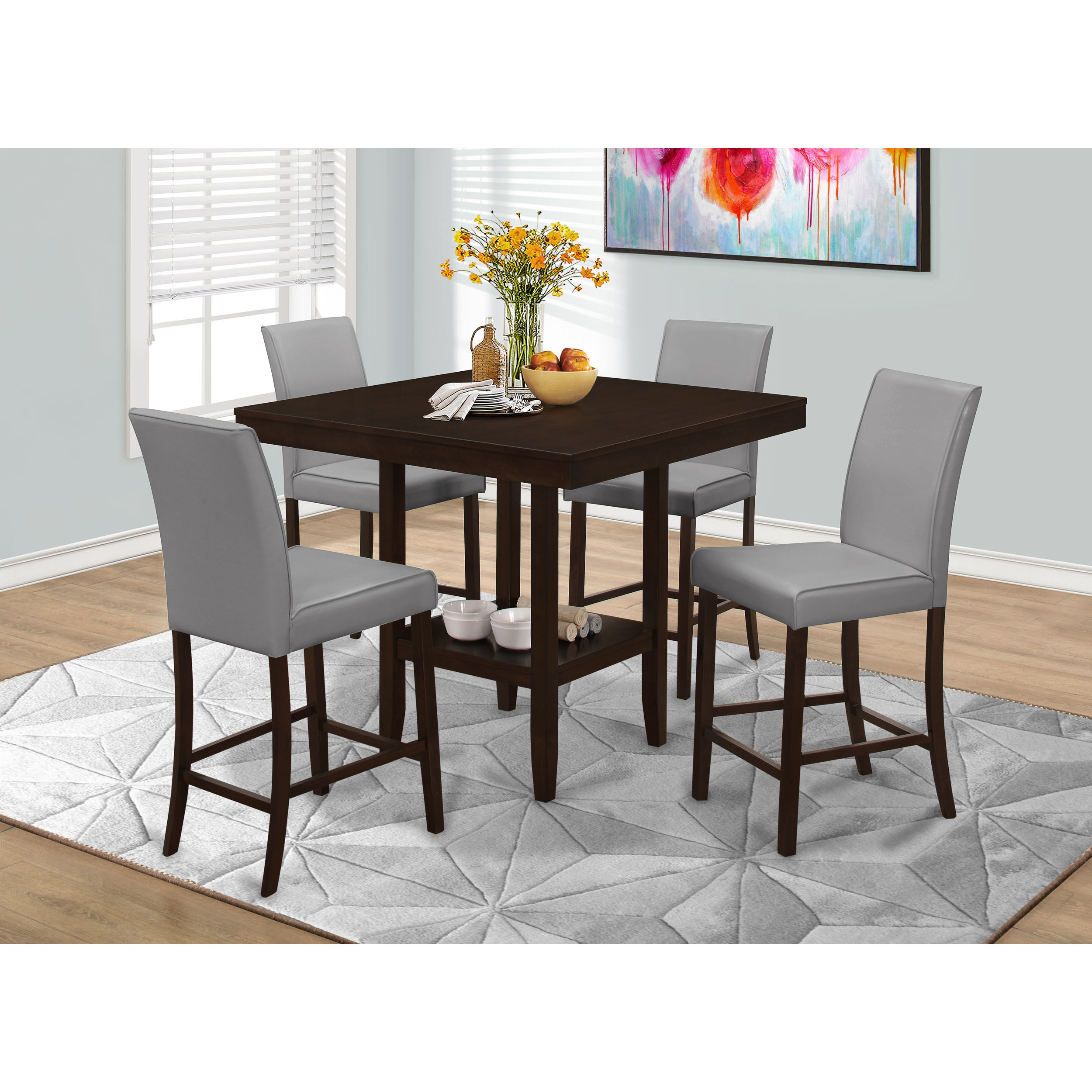 Best ideas about Bar Height Dining Table . Save or Pin Monarch Specialties Inc Counter Height Dining Table Now.