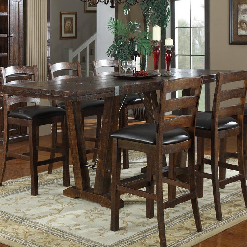 Best ideas about Bar Height Dining Table . Save or Pin Emerald Home Castlegate 42 in Bar Height Trestle Table Now.