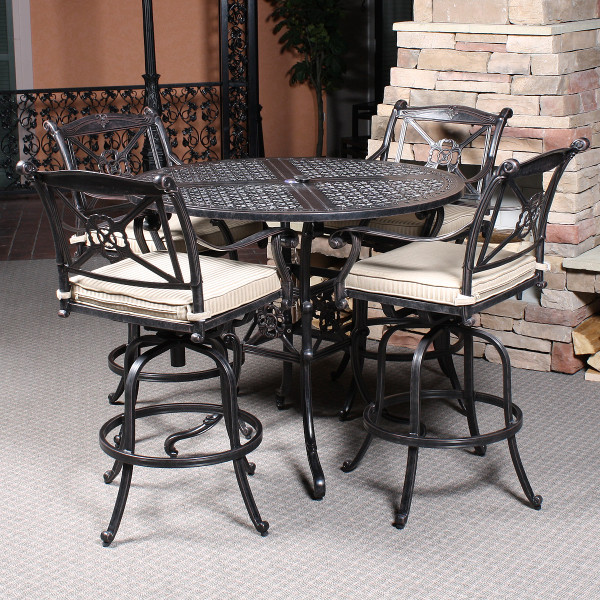 Best ideas about Bar Height Patio Furniture . Save or Pin San Marino Bar Height Patio Set by Gensun Now.