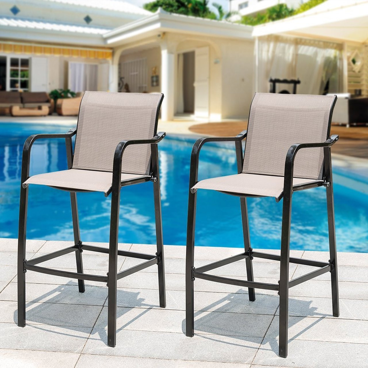 Best ideas about Bar Height Patio Furniture . Save or Pin Sundale Outdoor Counter Height Bar Stool All Weather Patio Now.