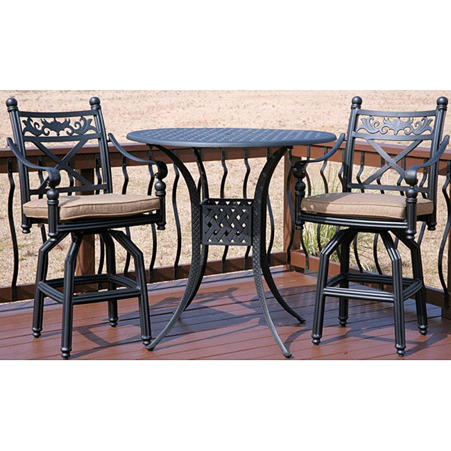 Best ideas about Bar Height Patio Furniture . Save or Pin Bar height 3 piece Patio Furniture Set Free Shipping Now.