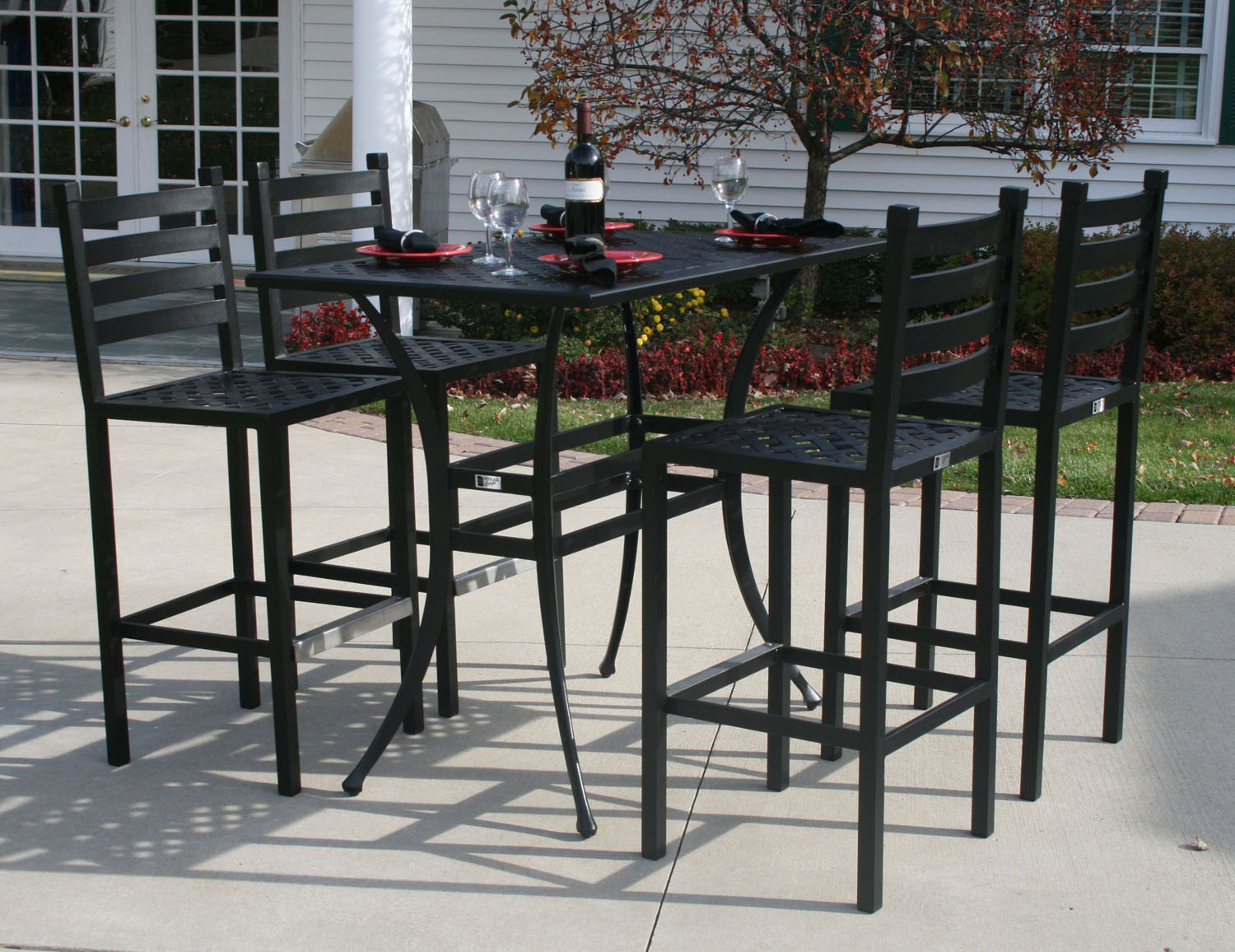 Best ideas about Bar Height Patio Furniture . Save or Pin Ansley Luxury 4 Person All Welded Cast Aluminum Patio Now.