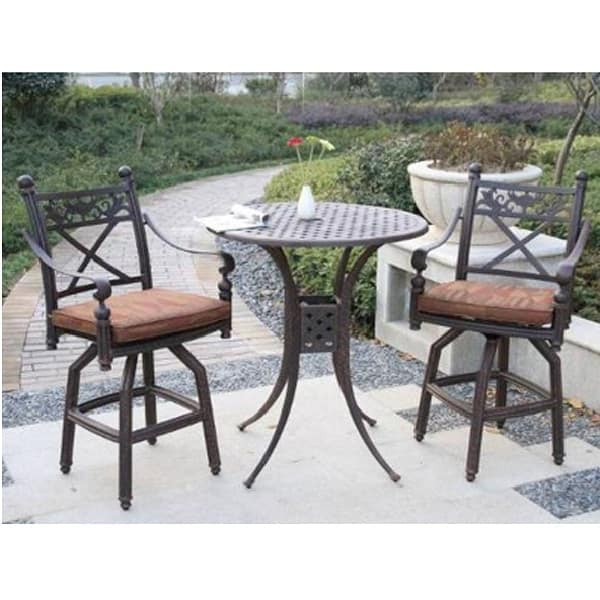 Best ideas about Bar Height Patio Furniture . Save or Pin 3 Piece Garden Bar Height Patio Set Now.